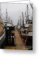 Fishing Boat Walkway Greeting Card