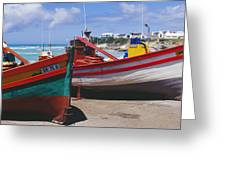 Fishing Boats At Arniston Greeting Card
