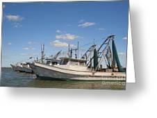 Fishing Boats At The Gulf Of Mexico Greeting Card