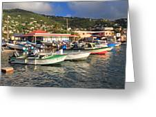 Fishing Boats In Frenchtown Greeting Card