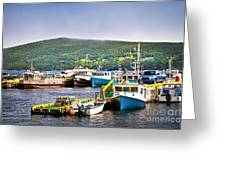 Fishing Boats In Newfoundland Greeting Card