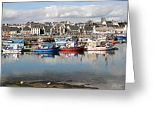 Fishing Boats In The Harbor Greeting Card