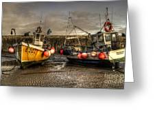 Fishing Boats On The Cobb Greeting Card