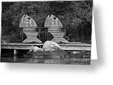 Fishing Chairs Greeting Card