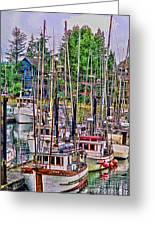 Fishing Docks Hdr Greeting Card