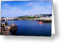 Fishing Harbour, Dunmore East, Ireland Greeting Card