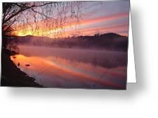 Fishing Lake Eildon Greeting Card