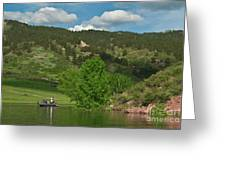 Fishing On Horsetooth Reservoir Greeting Card