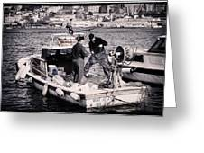 Fishing On The Golden Horn Greeting Card