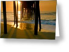 Fishing Pier And Surf II Greeting Card
