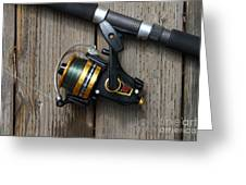 Fishing Rod And Reel . 7d13542 Greeting Card by Wingsdomain Art and Photography