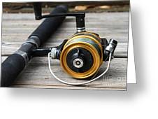 Fishing Rod And Reel . 7d13547 Greeting Card
