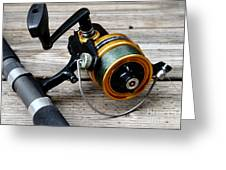 Fishing Rod And Reel . 7d13549 Greeting Card