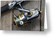Fishing Rod And Reel . 7d13565 Greeting Card by Wingsdomain Art and Photography