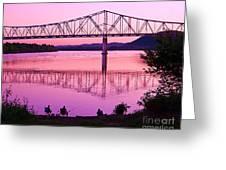 Fishing Sunset Greeting Card