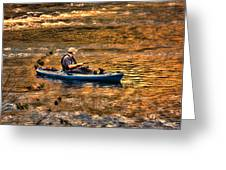 Fishing The Golden Hour Greeting Card