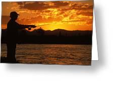 Fishing The Madison Greeting Card