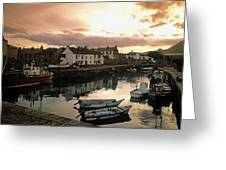 Fishing Village In Ireland Greeting Card