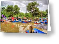 Fishing Village2 Greeting Card