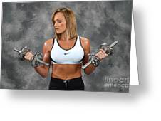 Fitness 8 Greeting Card