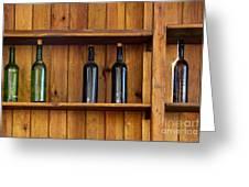 Five Bottles Greeting Card by Carlos Caetano