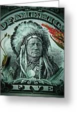 Five Bucks  Greeting Card