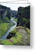 Fjardara Canyon Greeting Card