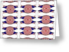 Flag Background Greeting Card