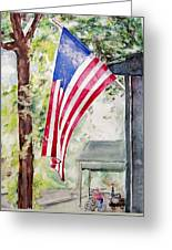 Flag Day Greeting Card by Regina Ammerman