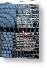 Flag In The City Greeting Card