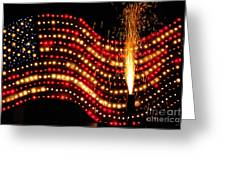 Flag On Greeting Card