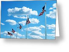 Flag Wave Greeting Card