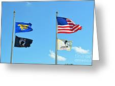 Flags Flying High Greeting Card