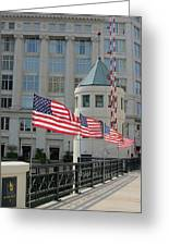 Flags On The Avenue Greeting Card