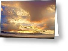Flagstaff Fire Sky Boulder Colorado Greeting Card