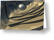 Flakes Of Gold Greeting Card