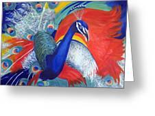 Flamboyant Peacock Greeting Card