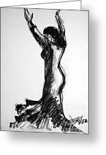Flamenco Sketch 3 Greeting Card