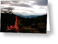 Flames With View Greeting Card