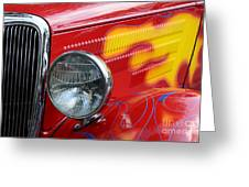Flaming Hot Rod 2 Greeting Card