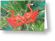 Flamingo Mask 4 Greeting Card
