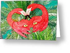Flamingo Mask 7 Greeting Card
