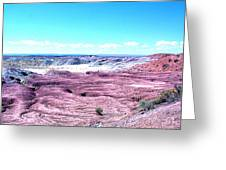 Flatlands In The Arizona Painted Desert Greeting Card
