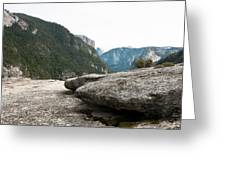 Flattop Rock Yosemite Greeting Card