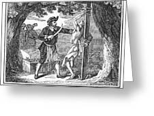 Flaying Of Christian Greeting Card