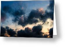 Fleecy Sunset Clouds  1208 Greeting Card