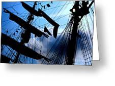Fleet Week - Masts Greeting Card by Maria Scarfone