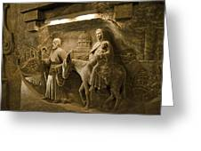 Flight Into Egypt - Wieliczka Salt Mine Greeting Card