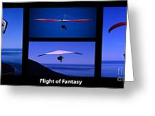 Flight Of Fantasy With Caption Greeting Card