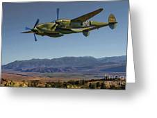 Flight Over The Sierras Greeting Card